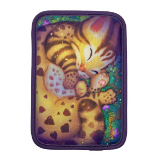 Leopard cat iPad Sleeves (night)