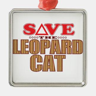 Leopard Cat Save Christmas Ornament
