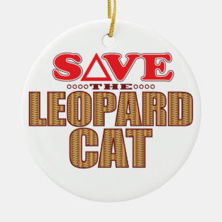 Leopard Cat Save Christmas Ornament