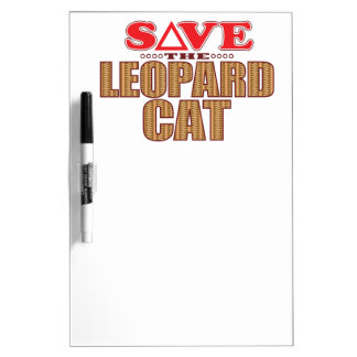 Leopard Cat Save Dry Erase Whiteboard