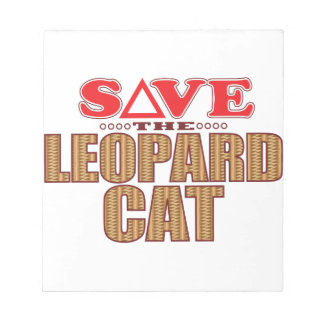 Leopard Cat Save Notepad