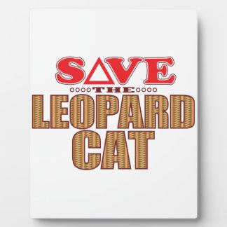 Leopard Cat Save Plaque