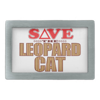 Leopard Cat Save Rectangular Belt Buckles