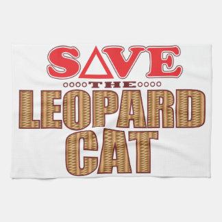 Leopard Cat Save Tea Towel