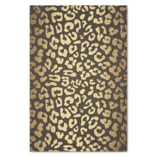 Leopard Cheetah Animal Skin Print Gold Glam Chic Tissue Paper