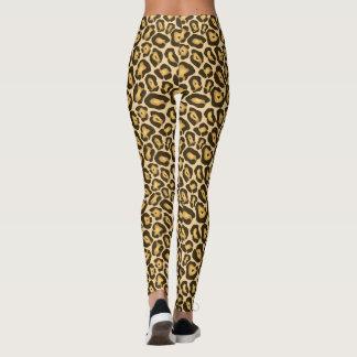 Leopard Cheetah Brown Animal Print Pattern Leggings