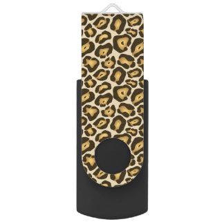 Leopard Cheetah Brown Animal Print Pattern USB Flash Drive