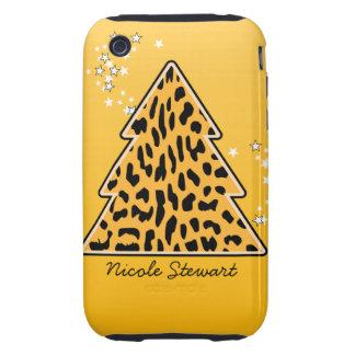 Leopard cheetah Christmas Tree 3G/3GS Case-Mate iPhone 3 Tough Case