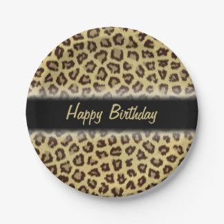 Leopard / Cheetah Print Custom Party Paper Plate
