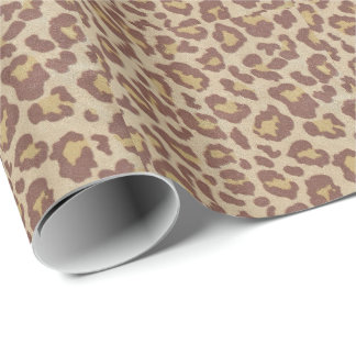 Leopard Cheetah Print Wrapping Paper