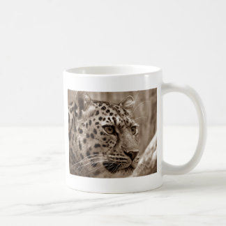 Leopard Closeup Sepia HD Photo Basic White Mug