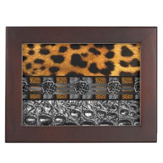 Leopard Crocodile Texture Memory Boxes
