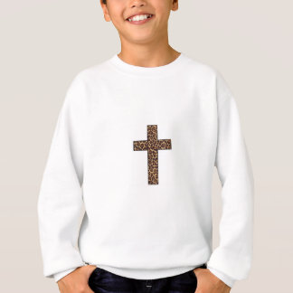 Leopard Cross CrewNeck Sweatshirt