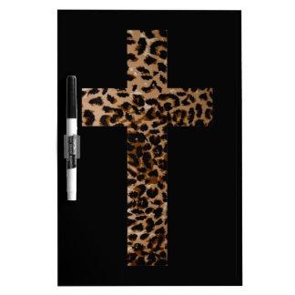 Leopard Cross Dry Erase Board