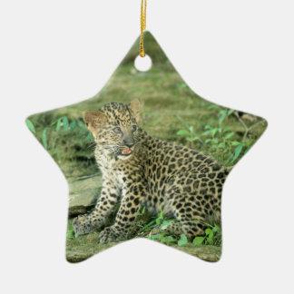 leopard cub christmas ornament