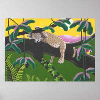 Leopard cub poster
