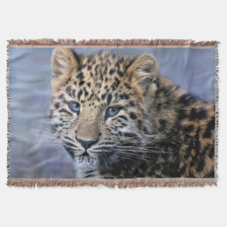 Leopard Cub Throw Blanket
