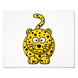 Leopard Cute Cartoon Animal Photographic Print