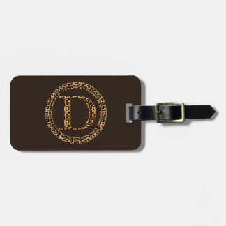 leopard D Luggage Tag