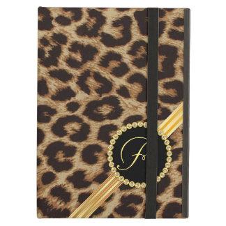 Leopard Elegant Girly Monogram Case For iPad Air