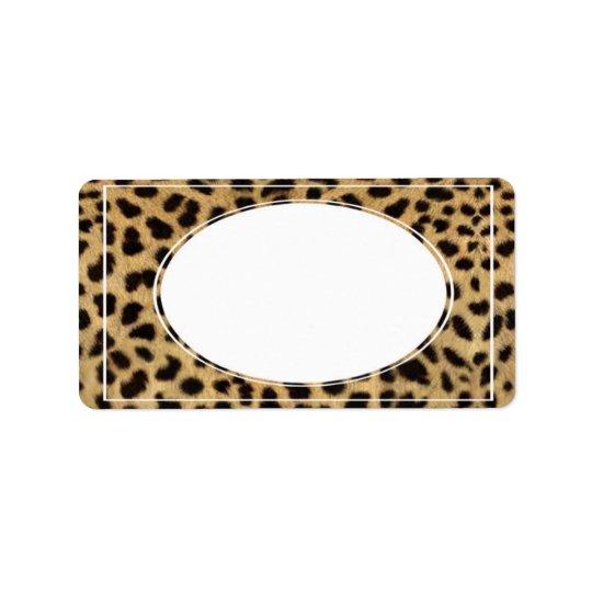 leopard envelope address label