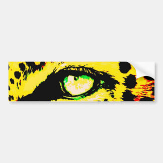 Leopard Eye Bumper Sticker