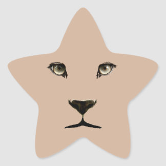 Leopard Eyes Star Sticker