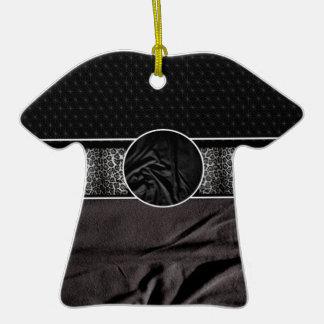 Leopard Fabric Monogram Ceramic T-Shirt Decoration