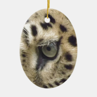 Leopard Face Christmas Ornament