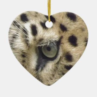 Leopard Face Christmas Ornament