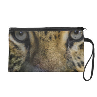 Leopard Face of Hunger Wristlet Clutches