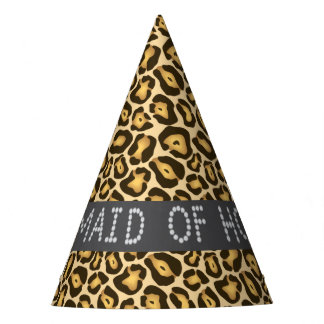 Leopard Faux Diamond Maid Of Honor Party Hats