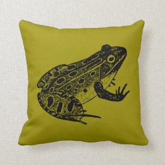 Leopard frog cushion