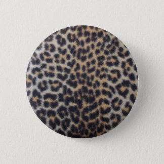 Leopard Fur 6 Cm Round Badge