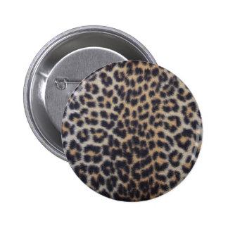 Leopard Fur 6 Cm Round Badge
