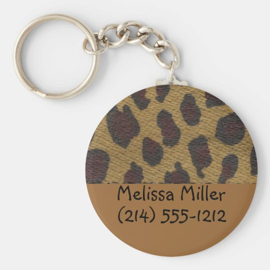 Leopard Fur Baggage ID tags Key Ring