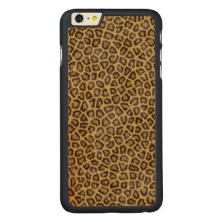 Leopard Fur Carved® Maple iPhone 6 Plus Case