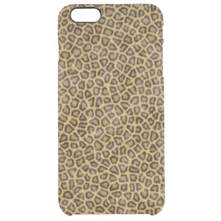 Leopard Fur Clear iPhone 6 Plus Case