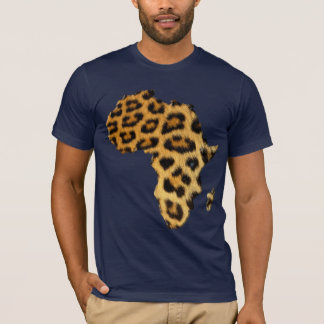 Leopard Fur-effect Map of AFRICA Fashion Tee