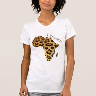 Leopard Fur-effect Map of AFRICA Series T-Shirt