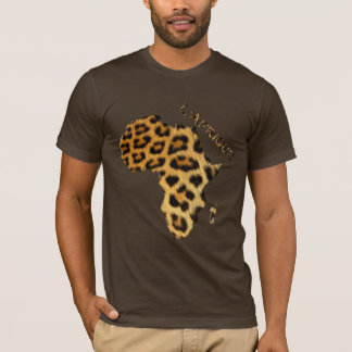 Leopard Fur-effect Map of AFRICA Series T-Shirt