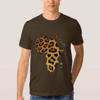 Leopard Fur-effect Map of AFRICA Series Tee Shirt