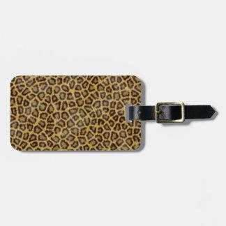 Leopard Fur Luggage Tag