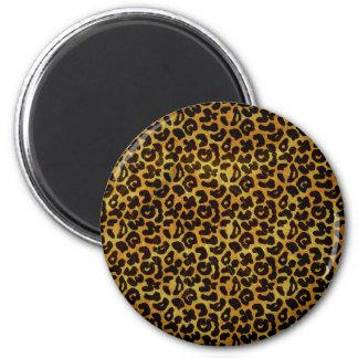 Leopard Fur Print Animal Pattern 6 Cm Round Magnet