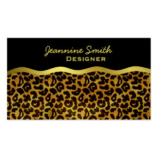 Leopard Fur Print Animal Pattern Business Cards