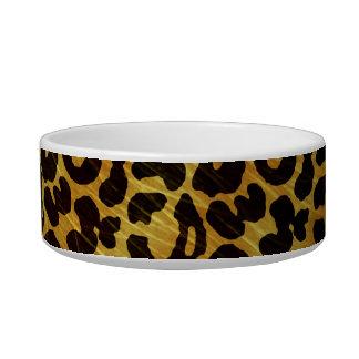 Leopard Fur Print Animal Pattern Cat Food Bowls
