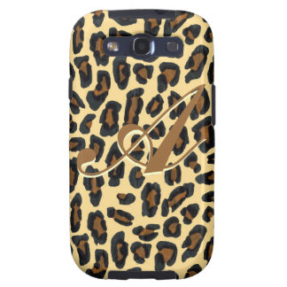 Leopard Fur Print Monogram Case Galaxy S3 Covers