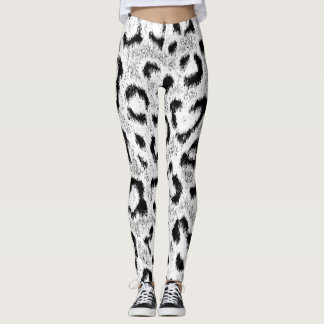 Leopard Fur Skin Pattern Leggings