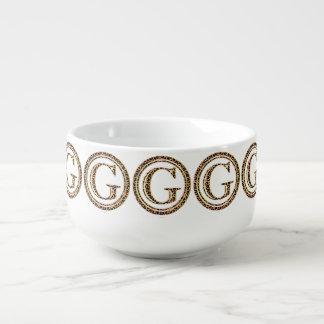 leopard G Soup Mug