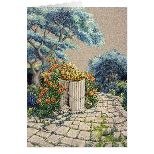 Leopard Garden, by Darlene P. Coltrain Card